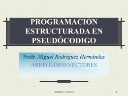 PROGRAMACIÓN ESTRUCTURADA EN PSEUDÓCODIGO