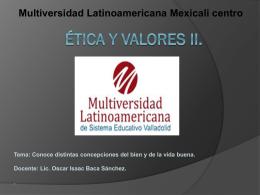 Ética y Valores II.