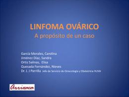 LINFOMA OVÁRICO a propósito de un caso