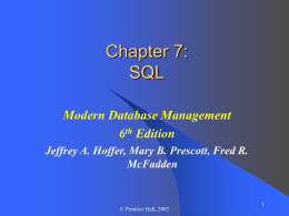 SQL - College of Business | Iowa State University