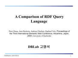 A Comparison of RDF Query Language