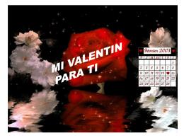 Mi Valentín para tí