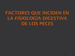 FACTORES QUE INCIDEN EN LA FISIOLOGÍA DIGESTIVA DE