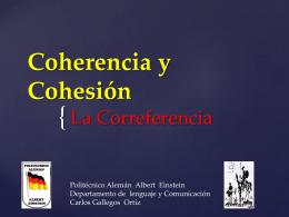 Coherencia y Cohesión - Politécnico Alemán Albert