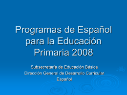Programas de Español para la Educación Primaria