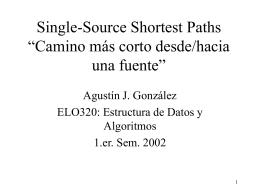 """Single-Source Shortest Paths """" Camino más corto"""