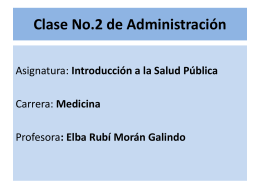 Clase No.2 de Administración