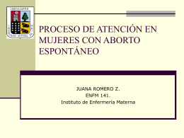 PROCESO DE ATENCIÓN EN MUJERES CON ABORTO