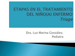 ETAPAS EN EL TRATAMIENTO DEL NIÑO(A) ENFERMO