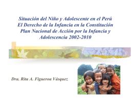 Situación del Niño y Adolescente en el Perú El