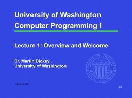 CSE / ENGR 142 Computer Programming I