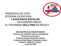 PRESENCIA DE OTRA EPIDEMIA SILENCIOSA: LAVIOLENCIA