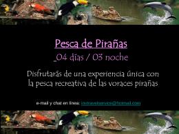 Pesca de Pirañas 04 días / 03 noche
