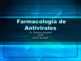 Farmacología de Antivirales