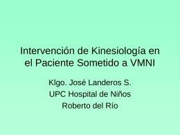 Intervención de Kinesiología en el Paciente