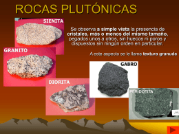ROCAS PLUTÓNICAS - Agrega