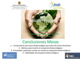 2ª Mesa Redonda BioFin - Motivos para invertir en