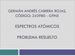 Germán Andrés Cabrera Rojas, Código: 243980 G9N5