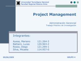 Presentación Project Management