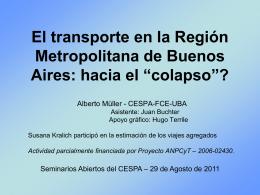 El transporte en la Región Metropolitana de Buenos