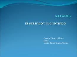 MAX WEBER - Juan José Santibañez | Herramienta de