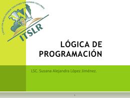LÓGICA DE PROGRAMACIÓN - LIC Alejandra López -