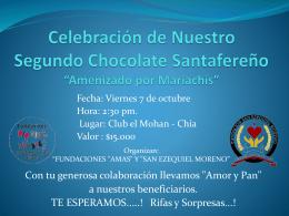 Celebración de Nuestro Segundo Chocolate