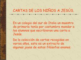Lettere dei bambini a Gesù. - INTEF