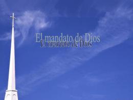 El mandato de Dios - Capilla De Oración Católica