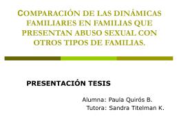 COMPARACIÓN DE LAS DINÁMICAS FAMILIARES EN