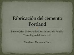 Fabricación del cemento Portland
