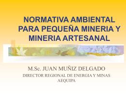 NORMATIVA AMBIENTAL PARA PEQUEÑA MINERIA Y MINERIA