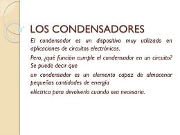 LOS CONDENSADORES - Electrónicadonbosco