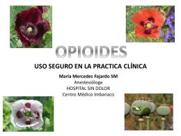 OPIOIDES - Centro Médico Imbanaco | Vocación de