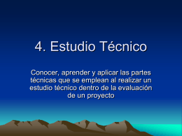 4. Estudio Técnico