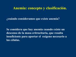 Síndrome anémico: concepto y clasificación