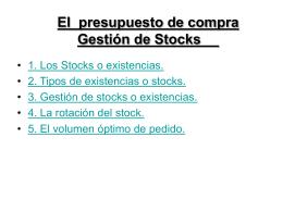 Gestión de Stoks