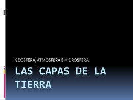 LAS CAPAS DE LA TIERRA - Tercer Ciclo del Pío