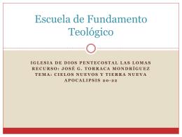 Escuela de Fundamento Teológico
