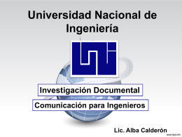 Diapositiva 1 - Lic. Alba Calderón | Resp. de