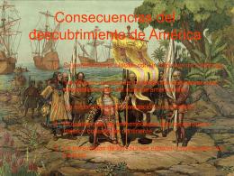 Consecuencias del descubrimiento de América