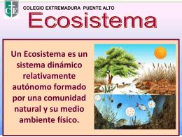 ¿QUÉ ES UN BIOMA? - Colegios Extremadura 2015