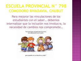 ESCUELA PROVINCIAL N° 798
