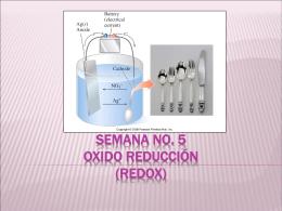 Semana 5 Reacciones de Oxido Reducción REDOX