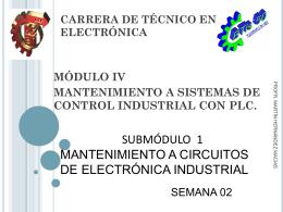 CARRERA DE TÉCNICO EN ELECTRÓNICA