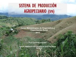 SISTEMA DE PRODUCCIÓN AGROPECUARIO