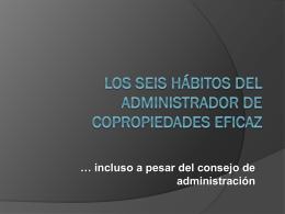 Los 6 hábitos del administrador eficaz -