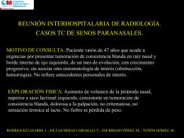 REUNIÓN INTERHOSPITALARIA DE RADIOLOGÍA. CASOS TC