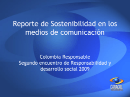 Reporte de Sostenibilidad en los medios de