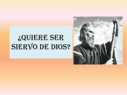 ¿Quiere ser siervo de Dios?